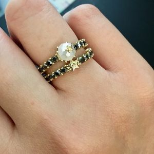 Dior Crystal Ring (bundle of 2) Size 6 6.5